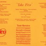 1983 Take Five flyer