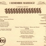 1984 I Remember Marriage 1 flyer