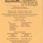 1985 Down the Tube 1 flyer