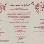 1985 Who Loves Ya Baby flyer