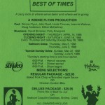 1988 Best of Times flyer